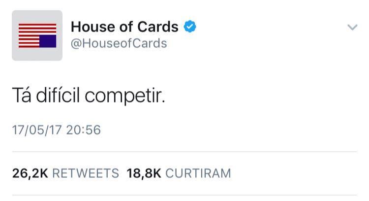 hoc - 'House of Cards' admite que nem a ficção consegue competir com a gestão de Michel Temer