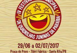 IV Festival Intermunicipal de Quadrilhas Juninas acontece em Santa Rita