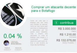 Torcida do Botafogo faz vaquinha na web para contratar atacante