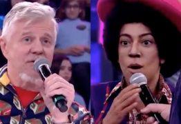 """BARRACO NO FAUSTÃO: Clima fica tenso entre Miguel Falabella e Samantha Schmutz no """"Show dos Famosos"""" – VEJA VÍDEO"""