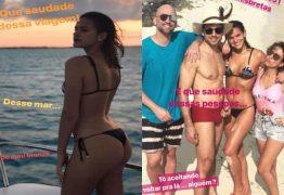 Solteira Bruna Marquezine posta fotos sensualizando de biquíni