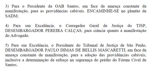 doc 3 - Advogado ameaça juiz e se diz 'estuprado' por suspensão da OAB