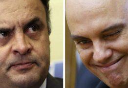 Moraes encontrava Aécio fora da agenda oficial, diz colunista
