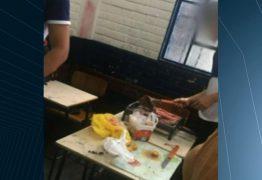 Alunos fazem churrasco dentro de sala de aula em escola pública