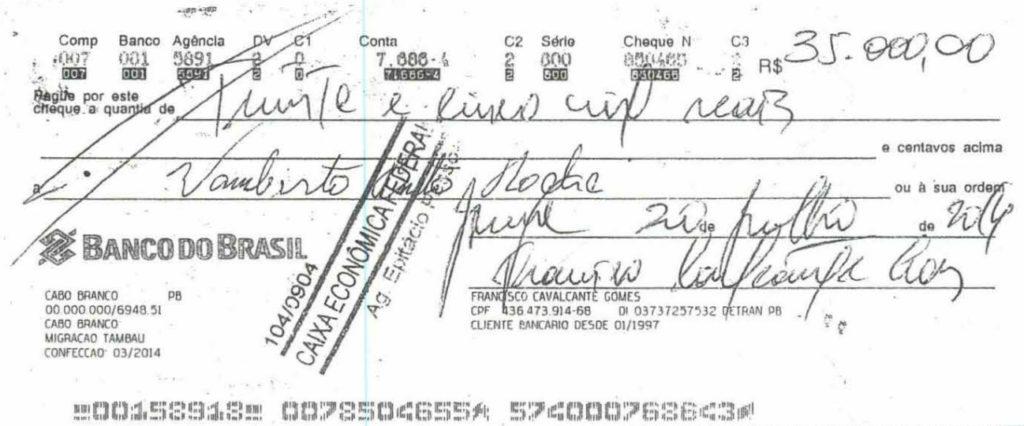cheque 2 - Grupo liderado por Tatiana Lundgren comprou R$ 238 mil em joias com cheques sem fundo