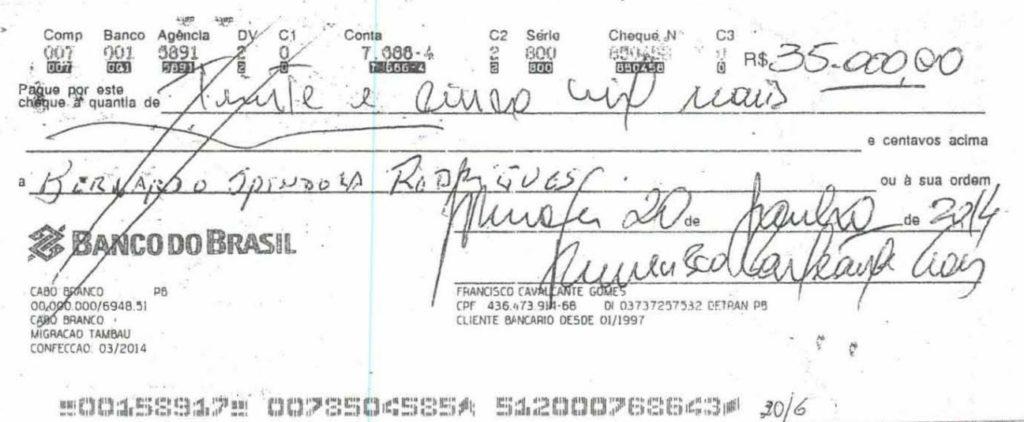 cheque 3 - Grupo liderado por Tatiana Lundgren comprou R$ 238 mil em joias com cheques sem fundo
