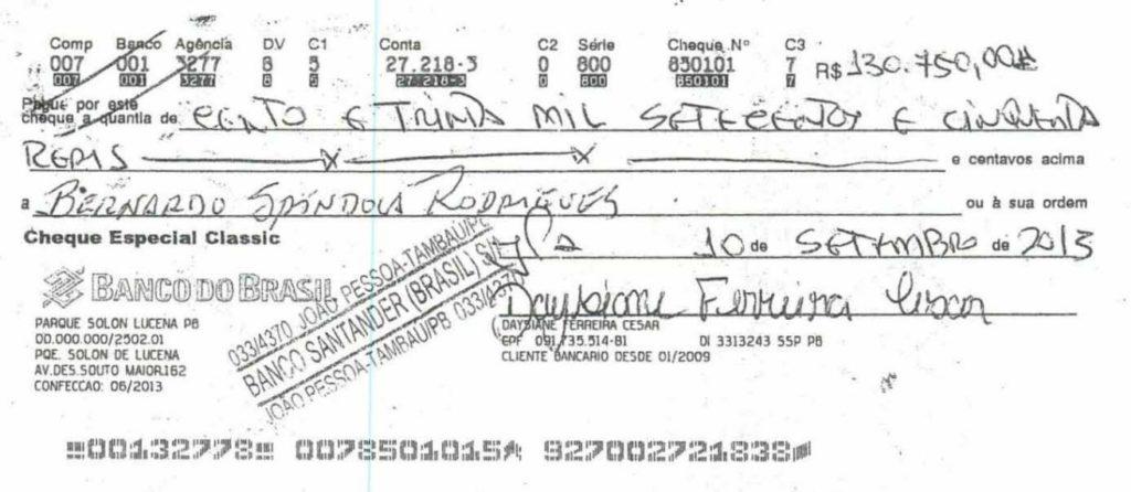 cheque 4 - Grupo liderado por Tatiana Lundgren comprou R$ 238 mil em joias com cheques sem fundo