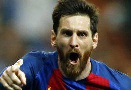 Com três gols de Messi Barcelona vence e alcança marca histórica