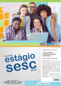 Estágio Sesc 2018 213x300 - Sesc lança edital com 56 vagas de estágio para João Pessoa, Campina Grande e Guarabira
