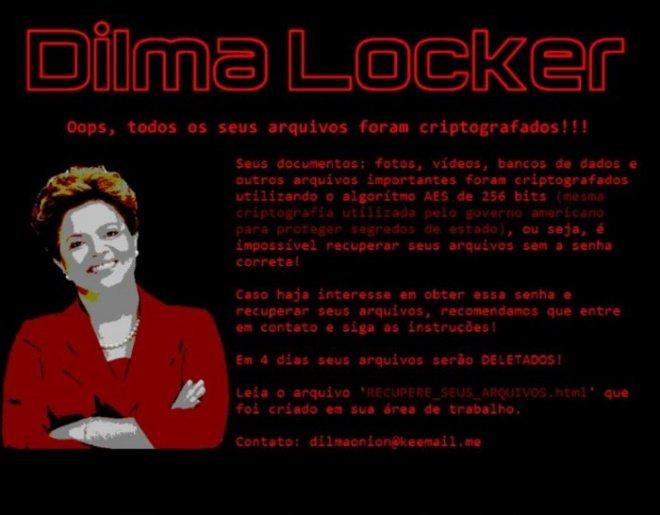 dilma locker 2 - Vírus brasileiro chamado 'Dilma Locker' pede resgate de R$ 3 mil