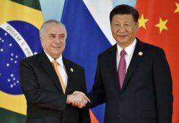 Michel Temer é recebido por presidente chinês em encontro do Brics