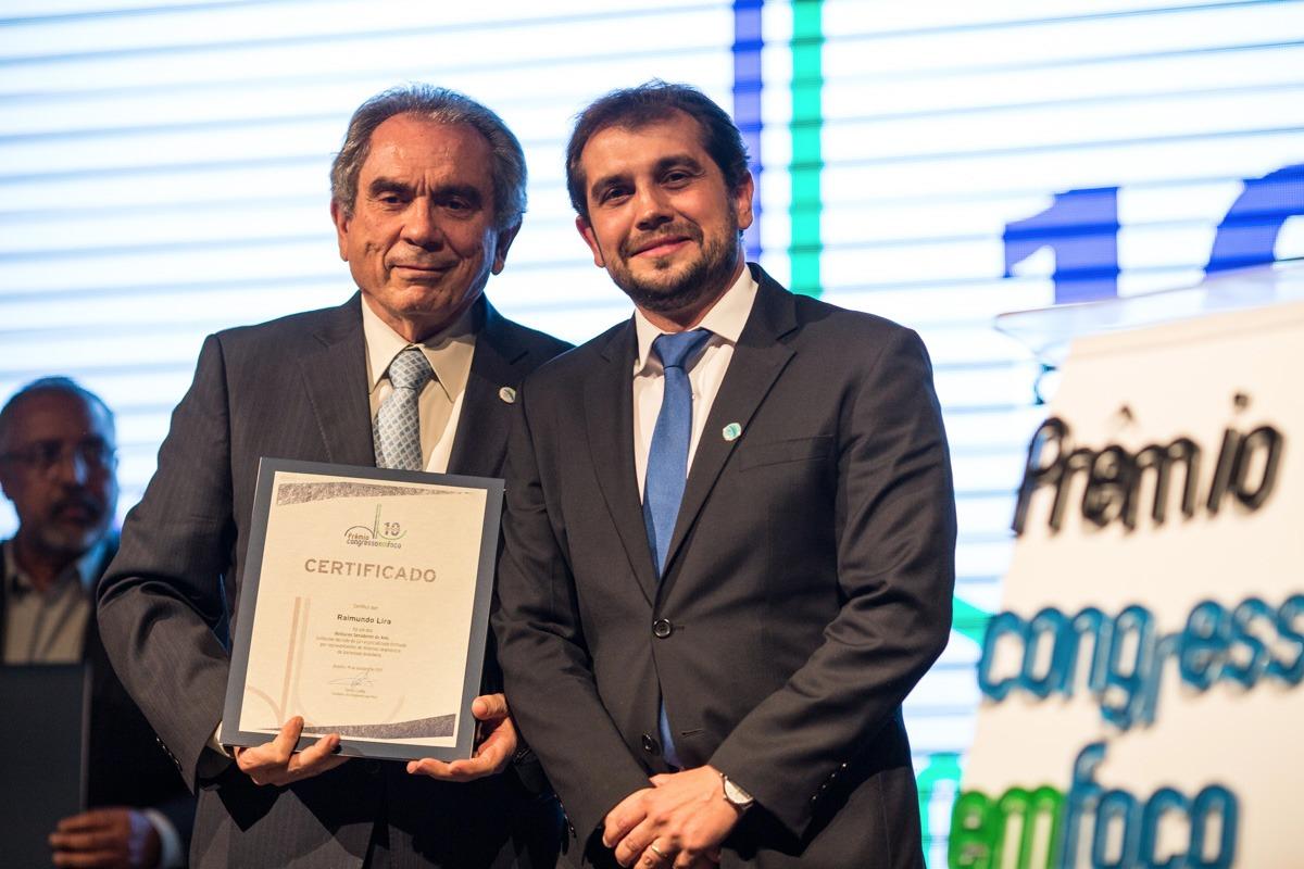 Raimundo Lira recebe Prêmio Congresso em Foco como um dos cinco melhores senadores do ano