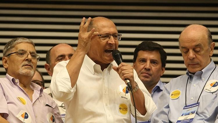 Resultado de imagem para foto alckmin convençao psdb