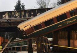 Trem descarrila em viaduto e deixa mortos e feridos
