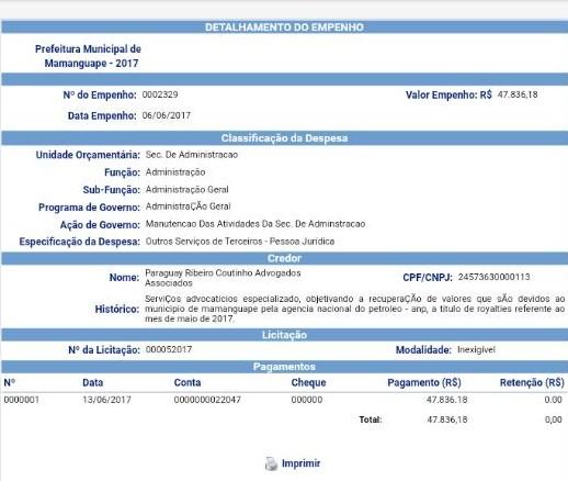 b7c05262 030a 4c3b a024 9b39bb96069a - FALTOU COMPROVAÇÃO DE NECESSIDADE: TCE suspende pagamento de Mamanguape feito a escritório de advocacia