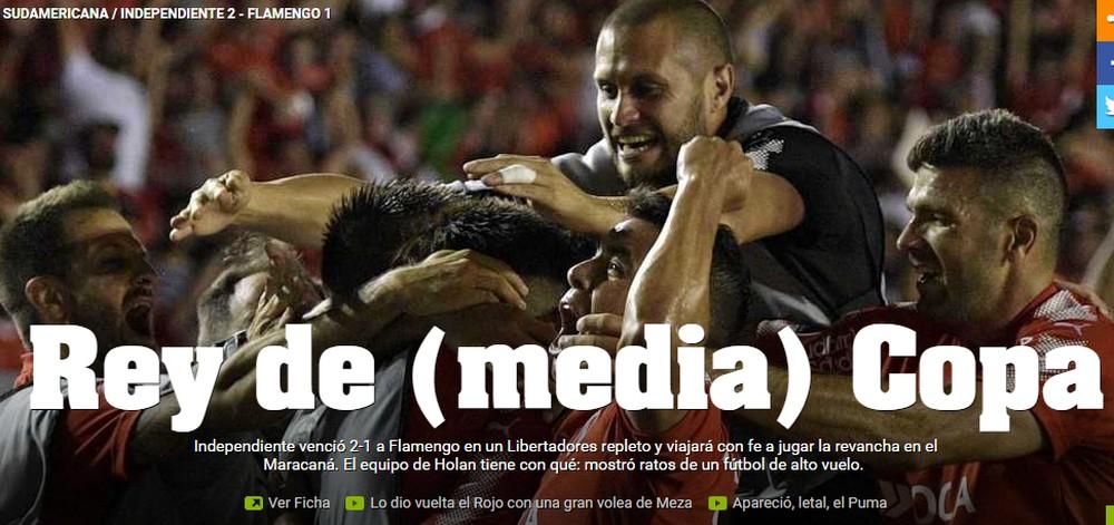 Imprensa argentina aponta Independiente com