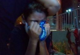Menino chora após derrota do do Espectros para o Cruzeiro