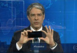 VEJA VÍDEO: No 'Jornal Nacional', William Bonner faz 'tutorial' de como gravar vídeo no celular