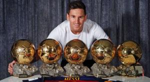 messi bola de ouro 300x164 - Ronaldo diz que Messi e CR7 não teriam tantas Bolas de Ouro em sua geração