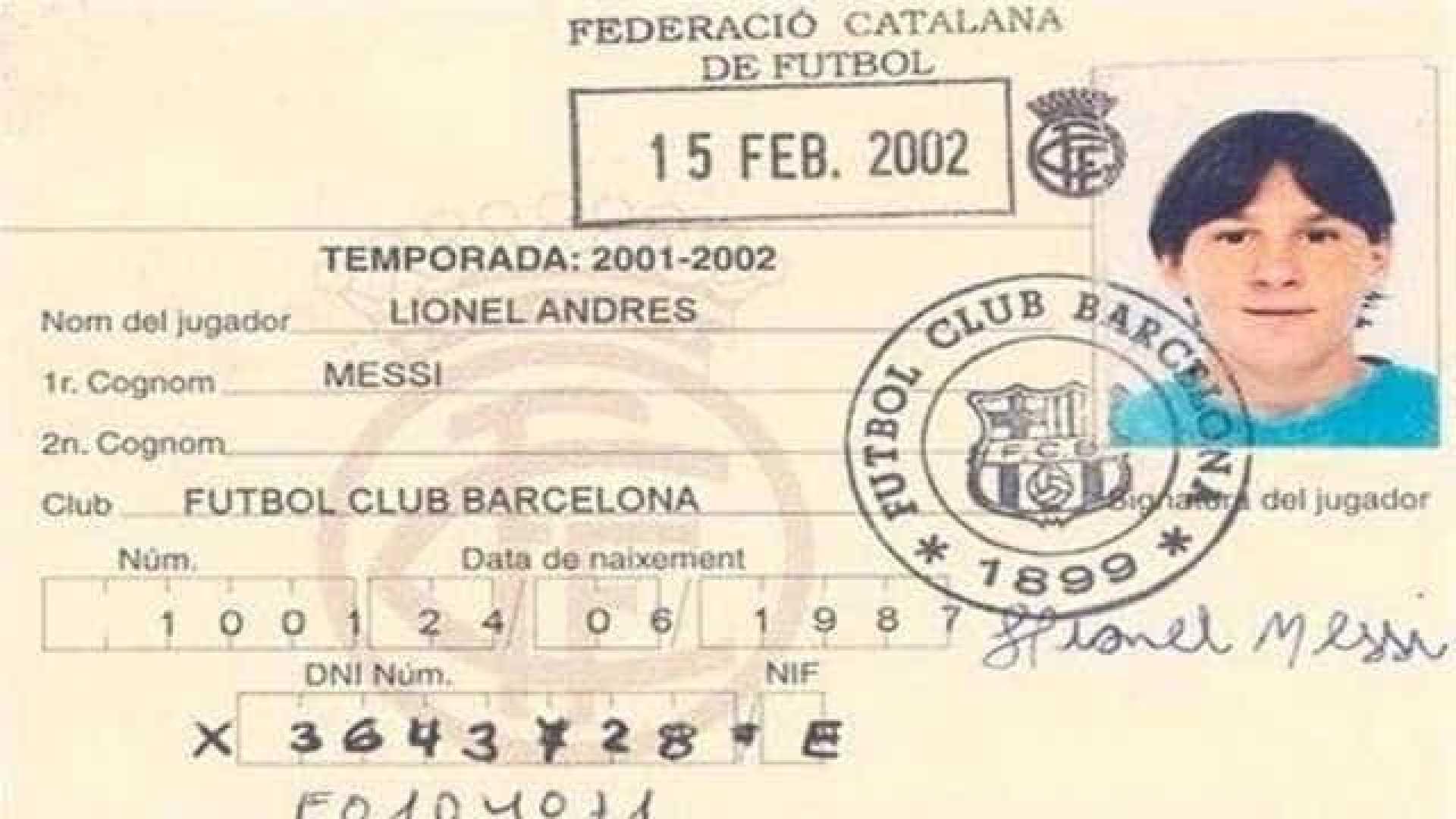 naom 5a8708f795847 - Messi iniciava trajetória no Barcelona há 16 anos