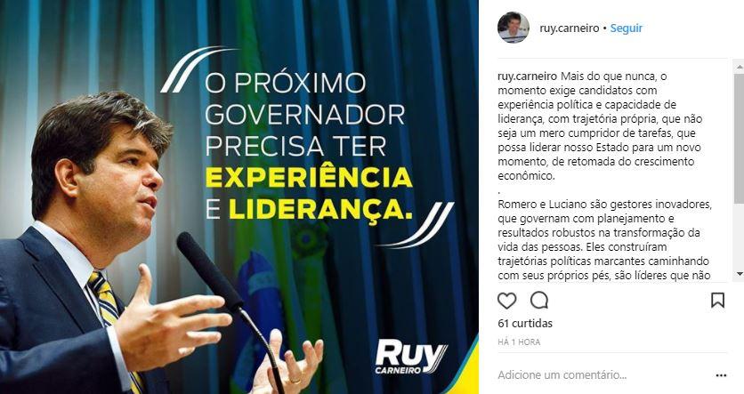 ruy - A ONDA 'CÁSSIO GOVERNADOR' COMEÇOU: A escolha dos tucanos será pela 'experiência e liderança'