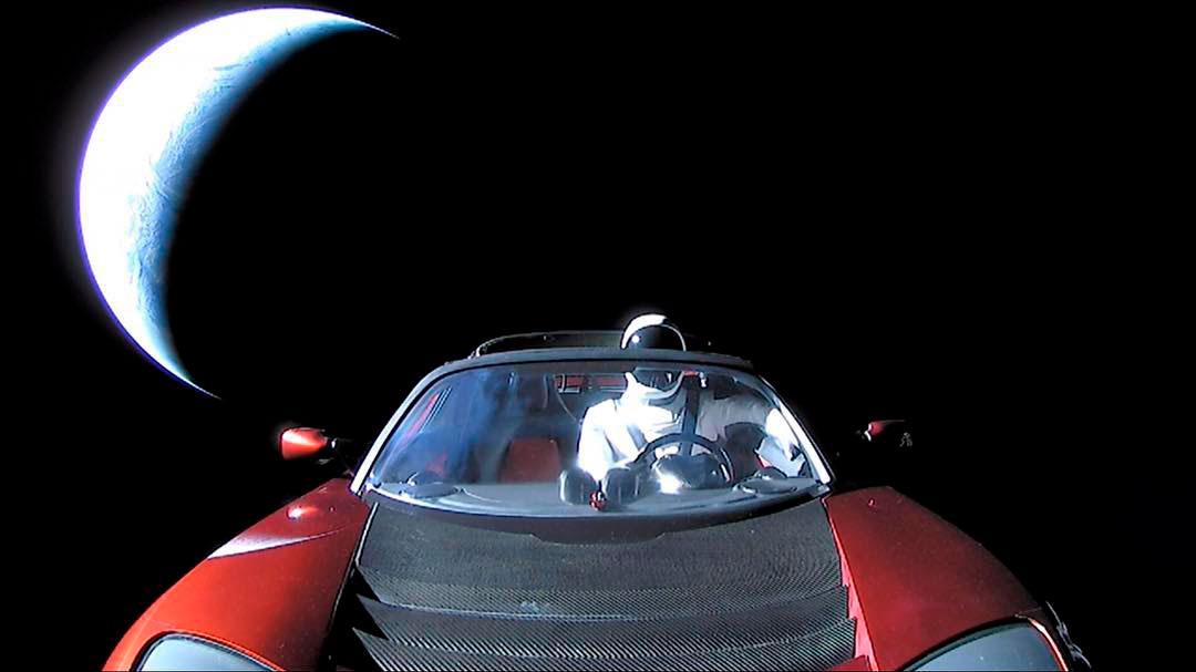 Observatório brasileiro registra Tesla de Elon Musk a caminho de Marte