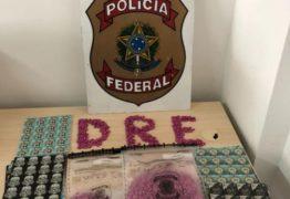 Homem é preso pela Polícia Federal com quantidade recorde de drogas sintéticas na PB