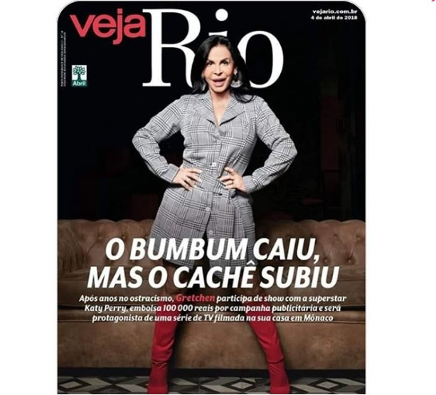 "miranda Gret. - ""O BMBUM CAIU"":  Gretchen se revolta com manchete da capa da Revista Veja"