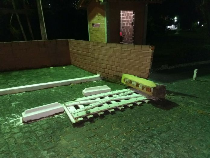 pamela8 - VEJA VÍDEO: Imagens de câmera de segurança flagram momento em que carro de Pâmela Bório derruba portão da Granja do Governador