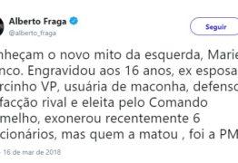 Deputado do DEM espalha calúnias sobre Marielle Franco