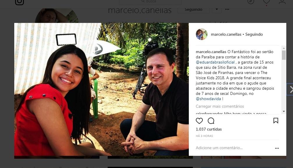 É FANTÁSTICO! Programa traz matéria especial com a paraibana Eduarda Brasil