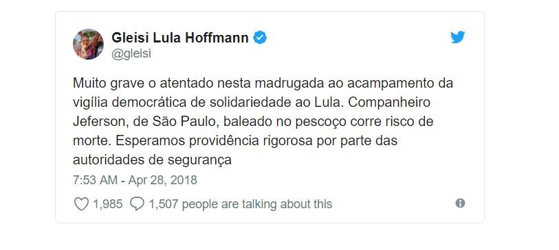 Capturar 29 - Após baleado em acampamento, Prefeitura de Curitiba faz novo pedido para que Lula seja transferido da PF- VEJA VÍDEO