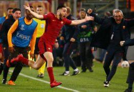 INESPERADO: Roma consegue vitória histórica sobre o Barcelona e avança para a semi da Champions – Veja Vídeo