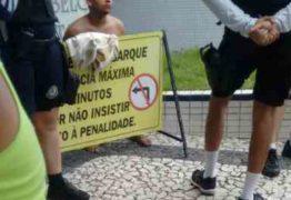 Grupo é assaltado na orla de João Pessoa e população agride um dos suspeitos
