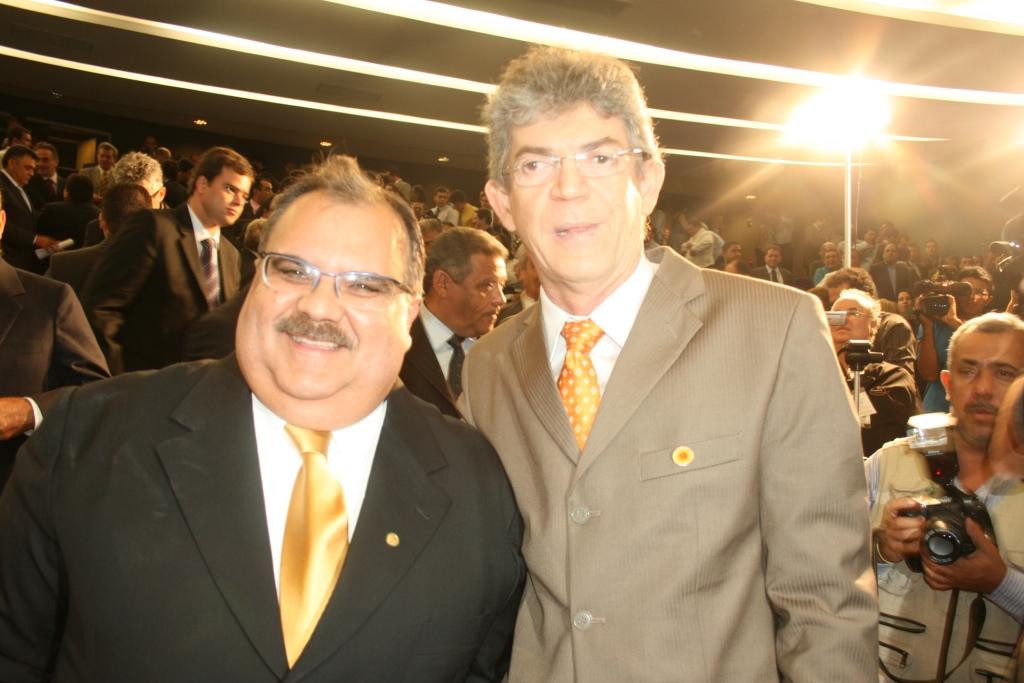 Governador Ricardo Coutinho decreta luto oficial de três pelo falecimento de Rômulo Gouveia