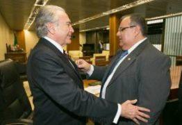 Temer faz homenagem a Rômulo durante cerimônia em Brasília