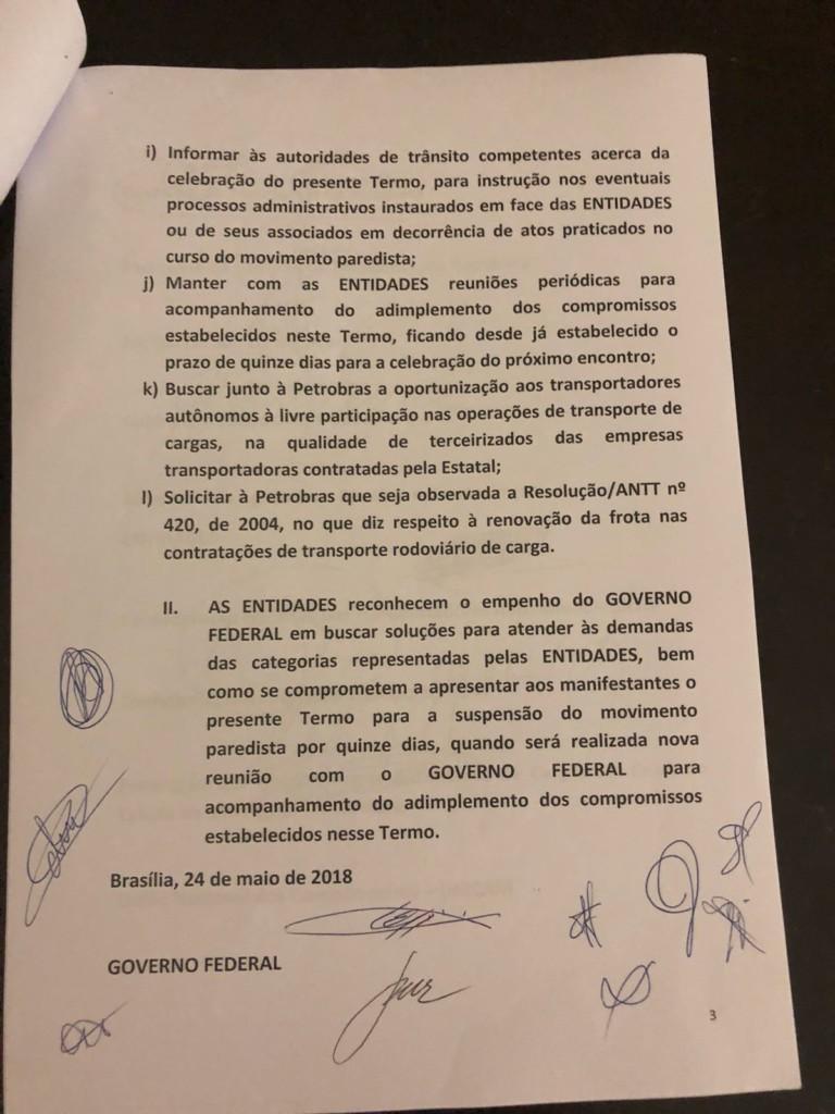 WhatsApp Image 2018 05 24 at 22.19.10 1 - GREVE NO BRASIL: Governo e caminhoneiros anunciam proposta de acordo; veja o documento