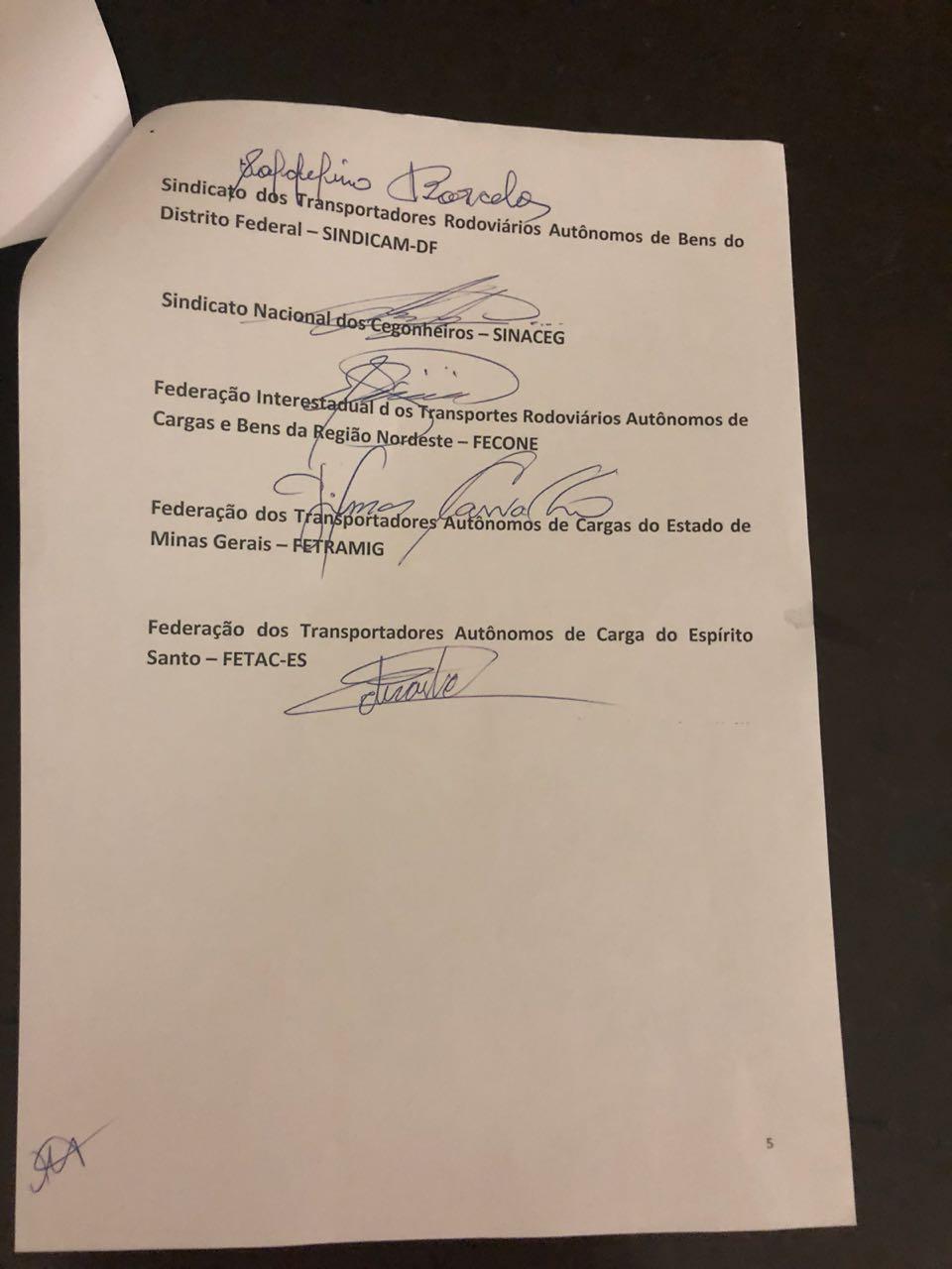 WhatsApp Image 2018 05 24 at 22.19.10 2 - GREVE NO BRASIL: Governo e caminhoneiros anunciam proposta de acordo; veja o documento