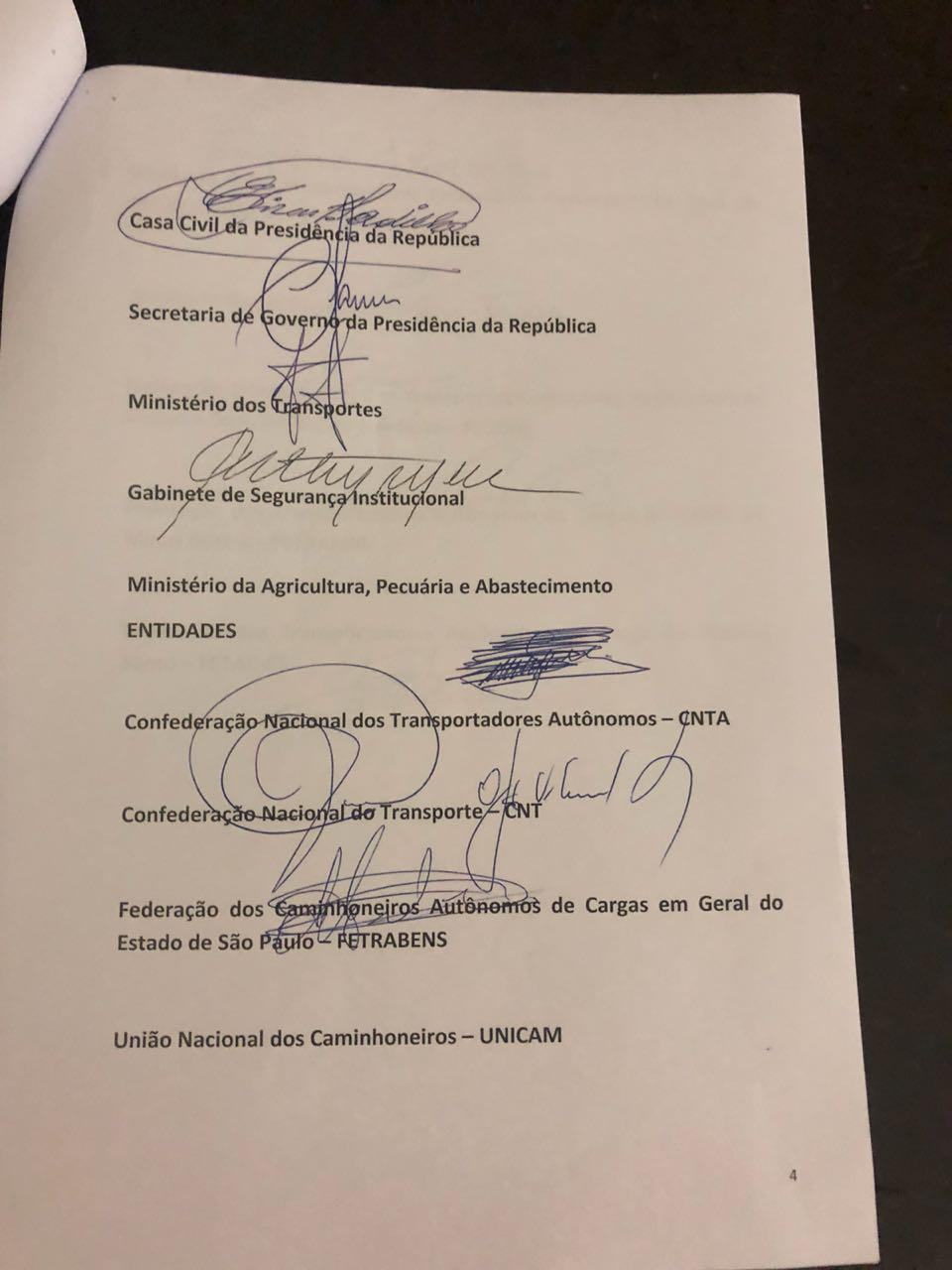 WhatsApp Image 2018 05 24 at 22.19.10 - GREVE NO BRASIL: Governo e caminhoneiros anunciam proposta de acordo; veja o documento