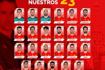 Com brasileiros Diego Costa e Rodrigo, Espanha divulga lista final para a Copa