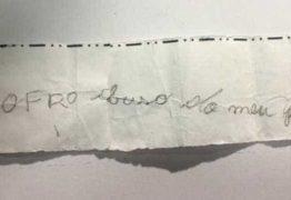 Criança entrega pedido de socorro à amiga: 'Sofro abuso do meu pai'