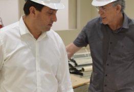 Ricardo Coutinho visita obras da nova Assembleia e é recebido por deputados