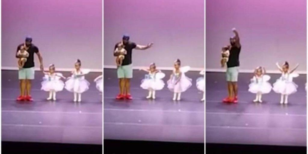 esta322900x485 65cf531c562d22567213d150463af6f5 1200x600 1024x512 - Pai sobe no palco e dança balé com filha de dois anos; VEJA VÍDEO!