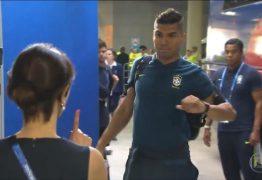 Casemiro é impedido de entrar no vestiário da seleção brasileira