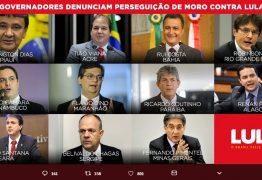 RC e mais 10 governadores denunciam perseguição de Moro contra Lula