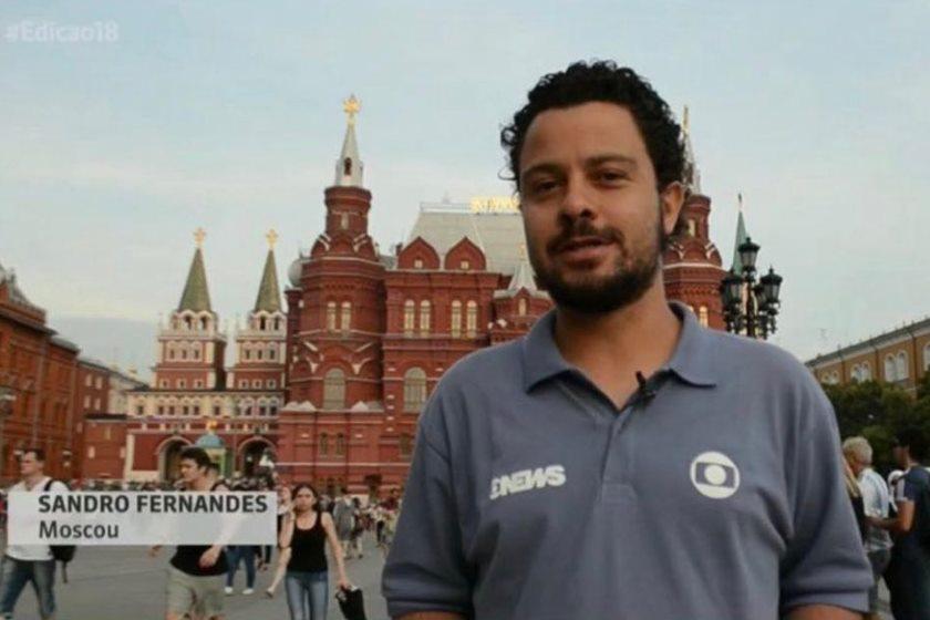 sandro fernandes - VEJA VÍDEO: Ao vivo da Rússia, repórter da Globo assume que é gay