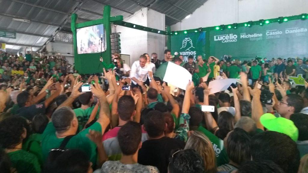 WhatsApp Image 2018 08 05 at 12.07.18 1024x576 - VEJA VÍDEOS: Convenção do PV oficializa chapa de Lucélio e Micheline, Cássio e Daniella