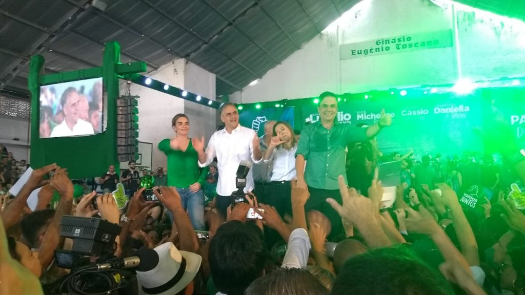 WhatsApp Image 2018 08 05 at 12.08.24 1024x576 - VEJA VÍDEOS: Convenção do PV oficializa chapa de Lucélio e Micheline, Cássio e Daniella