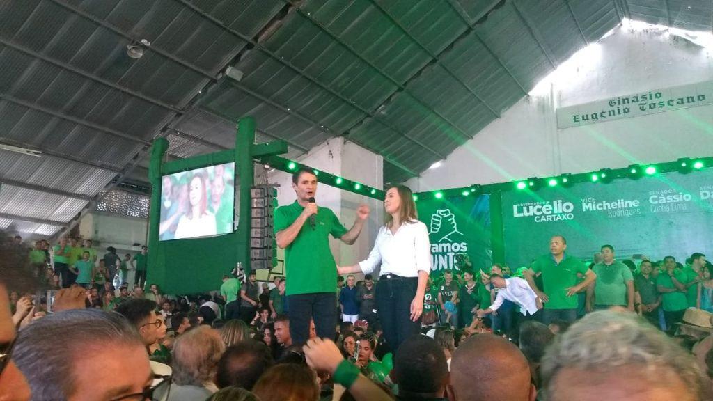 WhatsApp Image 2018 08 05 at 12.26.05 1024x576 - VEJA VÍDEOS: Convenção do PV oficializa chapa de Lucélio e Micheline, Cássio e Daniella