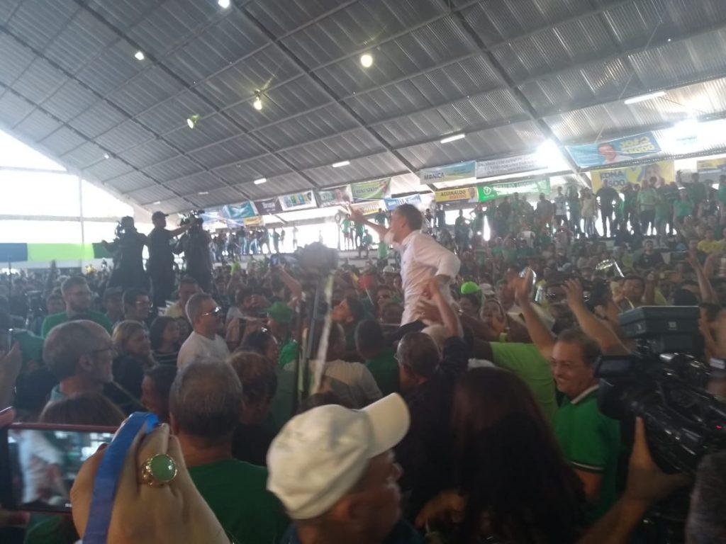 WhatsApp Image 2018 08 05 at 13.51.14 1024x768 - VEJA VÍDEOS: Convenção do PV oficializa chapa de Lucélio e Micheline, Cássio e Daniella
